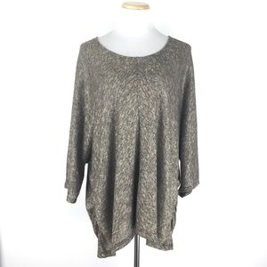 Apt. 9 Size 2X Metallic Dolman Sleeve Sweater